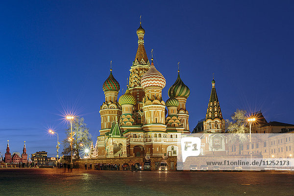 Russia  Moscow  Red Square  Kremlin  St. Basil's Cathedral