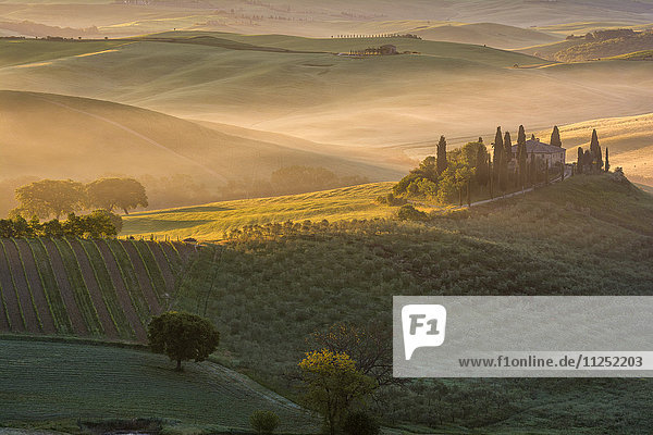 The Belvedere at San Quirico d'Orcia. Tuscany Italy