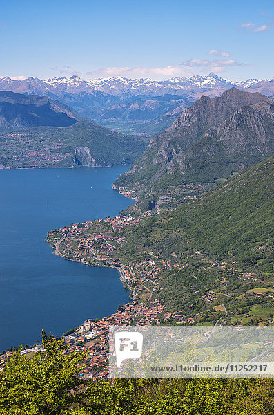 Europe  Italy  The coast of Lake Iseo in province of Brescia.