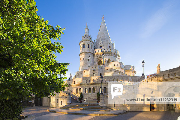 Hungary  Central Hungary  Budapest. Fisherman's Bastion takes it's name from the guild of fishermen responsible for defending this stretch of the city during the Middle Ages.