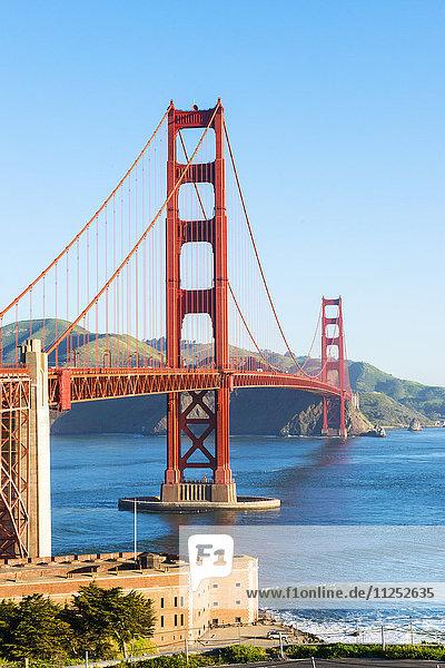 Vereinigte Staaten von Amerika USA Amerika grüßen Nordamerika Ansicht Kalifornien Golden Gate Bridge San Francisco
