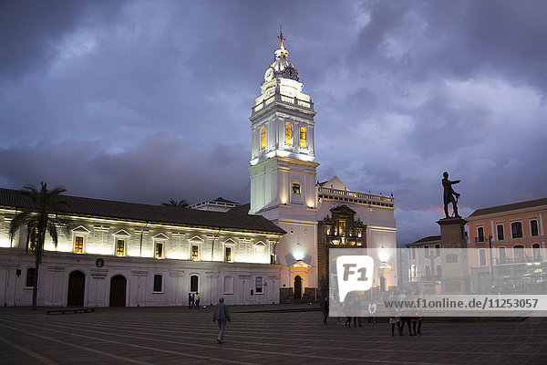 Santo Domingo Cathedral  UNESCO World Heritage Site  Quito  Ecuador  South America