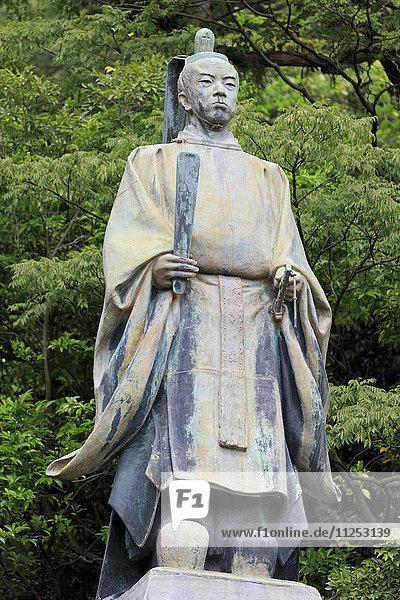 Shimadzu Tadoyoshi Statue  Tanshoen Garden  Kagoshima City  Kyushu Island  Japan  Asia