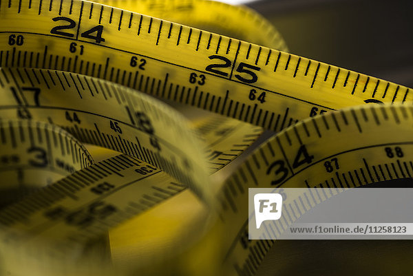 Close-up of tape measure