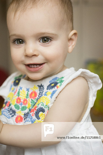 Portrait of baby girl (18-23 months)
