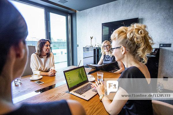 Group of businesswomen in meeting