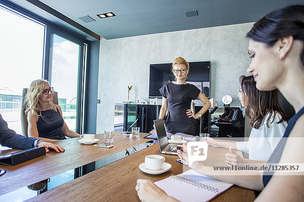 Businesswomen having a meeting in conference room