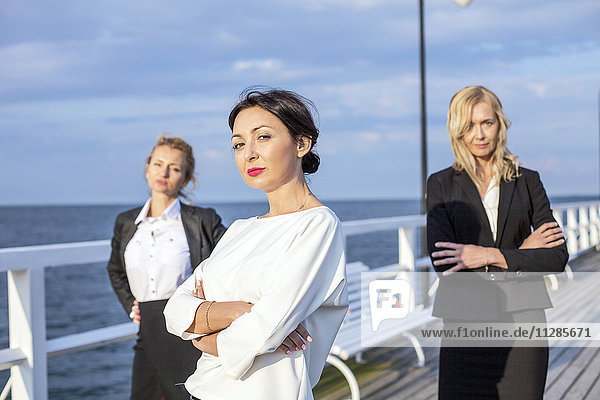 Group of businesswomen outdoors