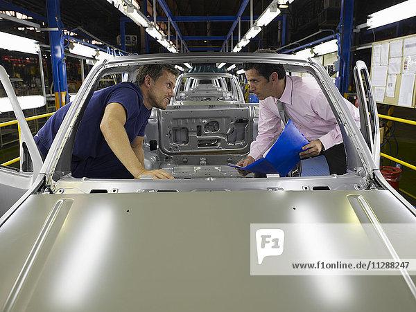 Men in Car Factory