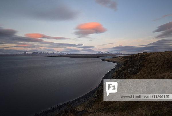 Iceland,  coastal landscape in Northern Iceland