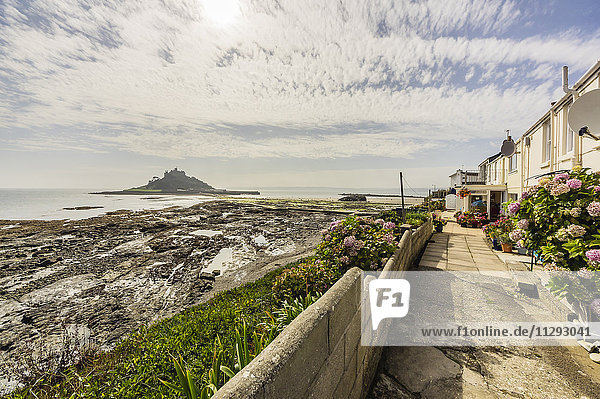 UK  Cornwall  Marazion with St. Michael's Mount in background
