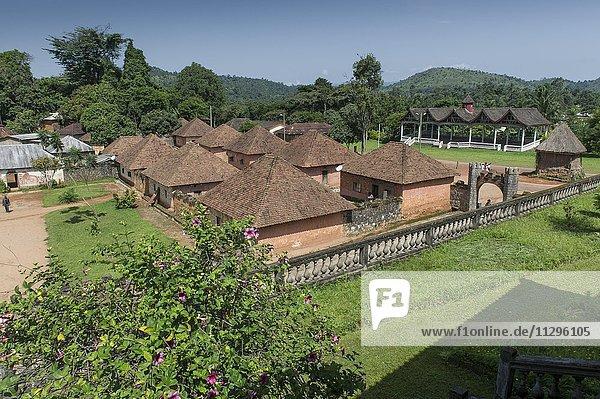 Traditional village Chefferie of Bafut  Chefferie de Bafut  part of the Royal Palace  UNESCO World Heritage Site  Bamenda  North-West Region  Cameroon  Africa