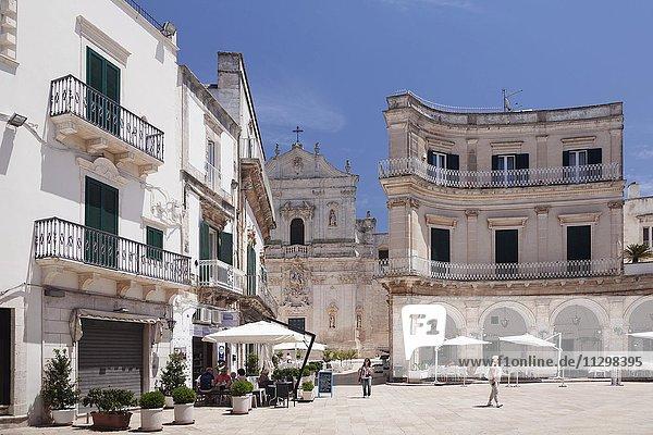 Piazza Maria Immacolata  Basilica di San Martino  Martina Franca  Valle d'Itria  Provinz Taranto  Apulien  Italien  Europa