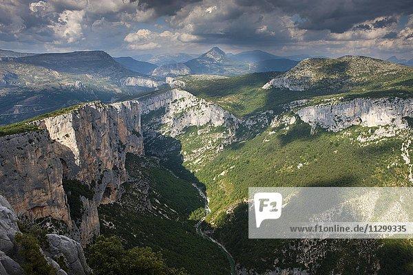 Verdonschlucht  Gorges du Verdon  auch Grand Canyon du Verdon  Regionaler Naturpark Verdon  Provence  Provence-Alpes-Cote-d'Azur  Frankreich  Europa