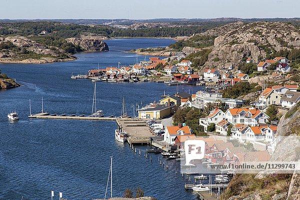 Houses  guest harbor  Fjällbacka  Bohuslän  West Sweden  Sweden  Europe
