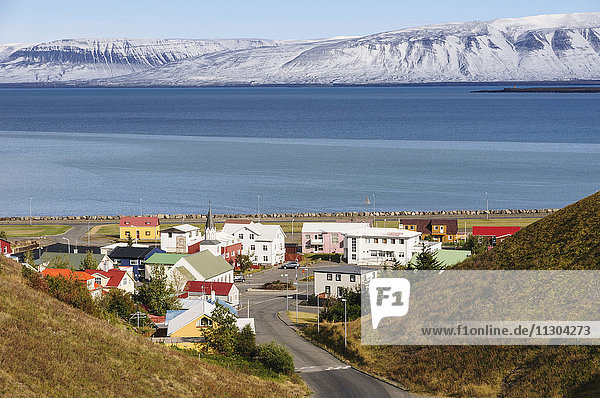 The small town Saudarkrokur in the fjord Skagafjördur in north Iceland.