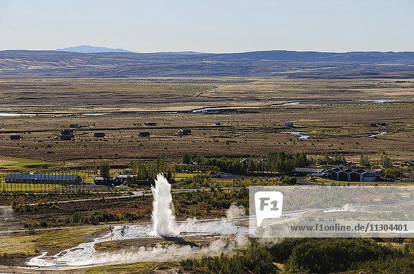 Geyser Strokkur in Iceland.
