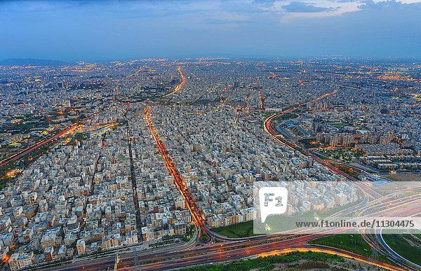 Iran  Teheran City  Teheran city from Milad Tower. Hemmat Expressway