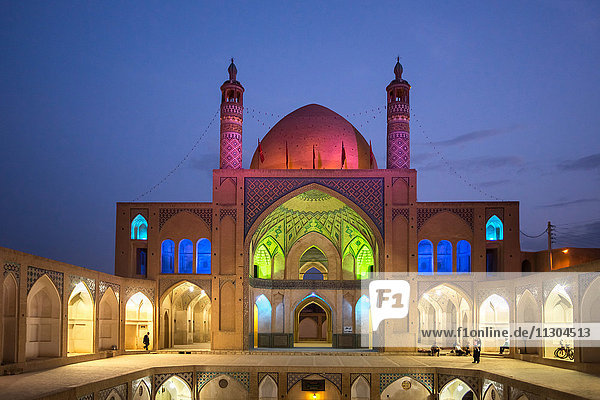 Iran  Kashan City  Masjed-e Agha Borzog Mosque