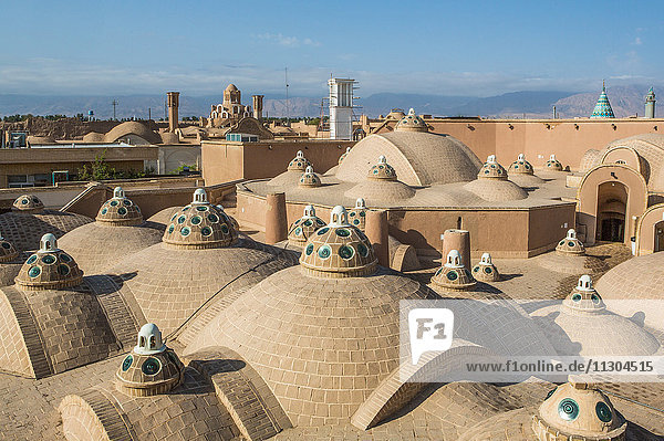 Iran  Kashan City  Hammam Sultan Mir Ahmad  (bath house)  the roof