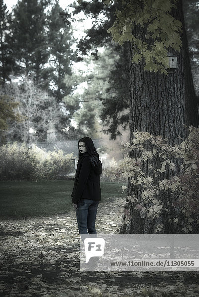 Teen in Woods