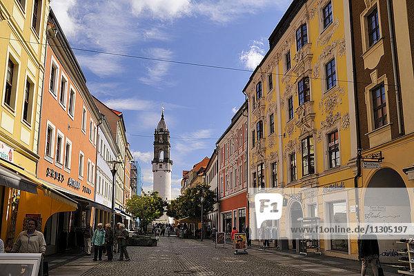 Germany  Saxony  Bautzen  Reichen Street and Reichen Tower