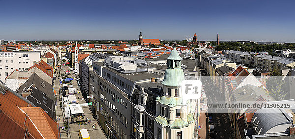 Germany  Brandenburg  Cottbus  View of the city from Spremberg Tower