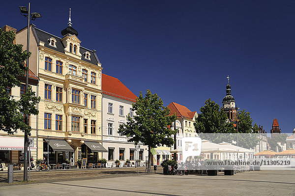 Germany  Brandenburg  Cottbus  Historical buildings at the Altmarkt