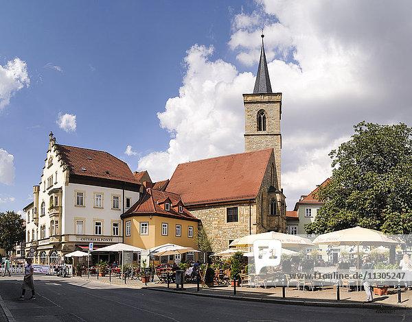 Germany  Erfurt  view to St Giles Church at Wenigemarkt