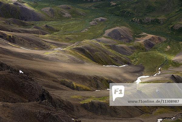 aerial  Brooks Range  Alaska  USA  landscape
