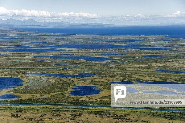 chukchi sea  coast  Kotzebue  Alaska  USA  aerial