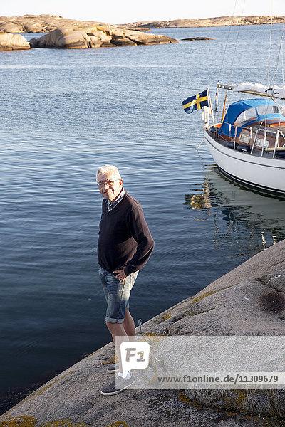Senior man at sea