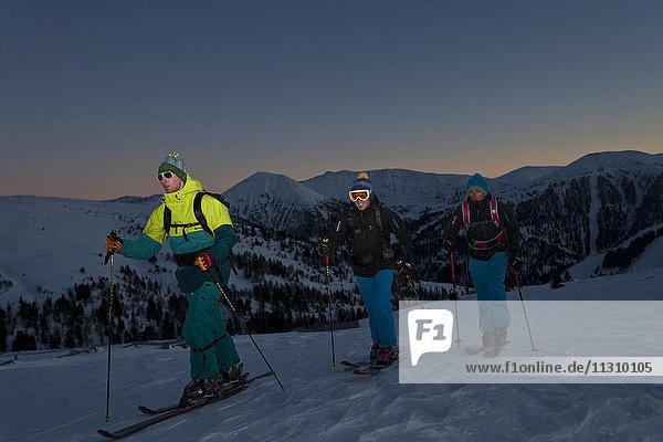 Ski tour  man  winter  Austria  sport  ski  sundown  men  outdoor  group Ski tour, man, winter, Austria, sport, ski, sundown, men, outdoor, group