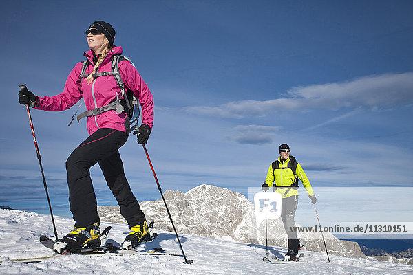 Ski  ski tour  man  woman  couple  Austria  sport