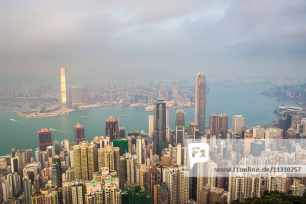 Hong Kong City  Central District  Victoria Harbour