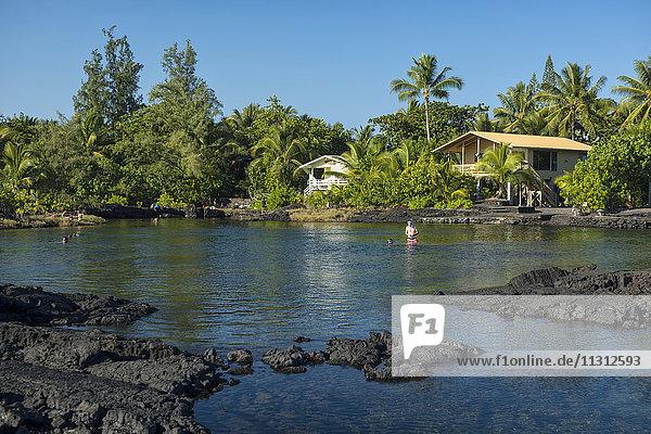 USA  Vereinigte Staaten  Amerika  Hawaii  Big Island  Puna Coast  Kapoho Tide Pools