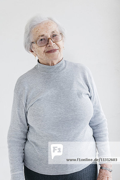 Portrait of senior woman indoors
