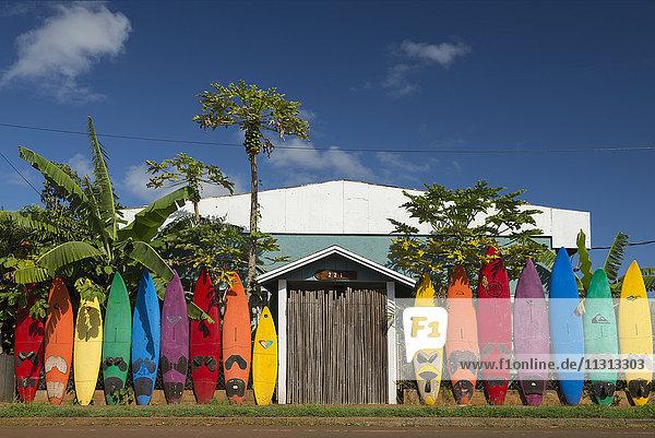 USA  Vereinigte Staaten  Amerika  Hawaii  Maui  Paia  surfboards  house