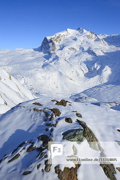 Monte Rosa - 4633 ms  Dufourspitze - 4634 ms  Valais  Switzerland