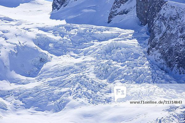 Slope glacier  Valais  Switzerland