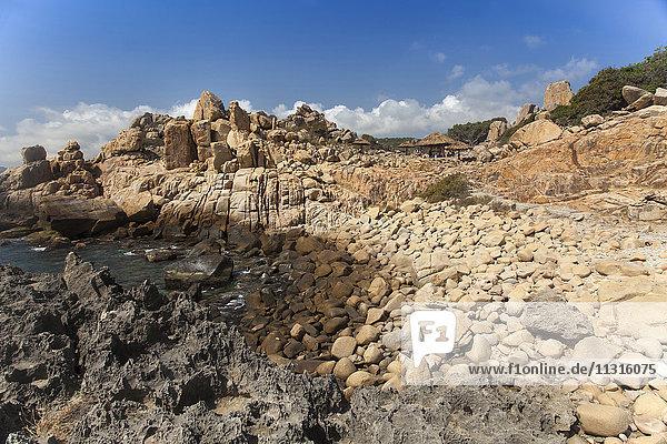 Rock coast in the national park Hang Rai  Vinh Hy  Ninh Thuan  Vietnam  Asia