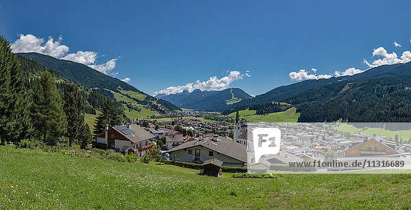 Sillian  Austria  View at the valley of the river Drau