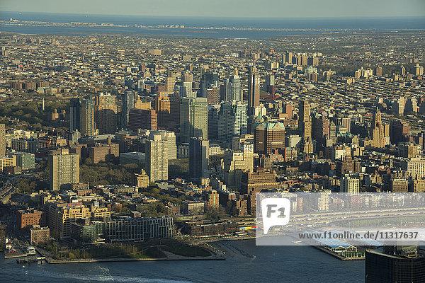 USA  New York  Manhattan  One World Observatory  View to Brooklyn