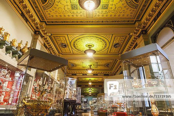 England  London  Kensington  Victoria and Albert Museum aka V&A  The Whitley Galleries  Silverware