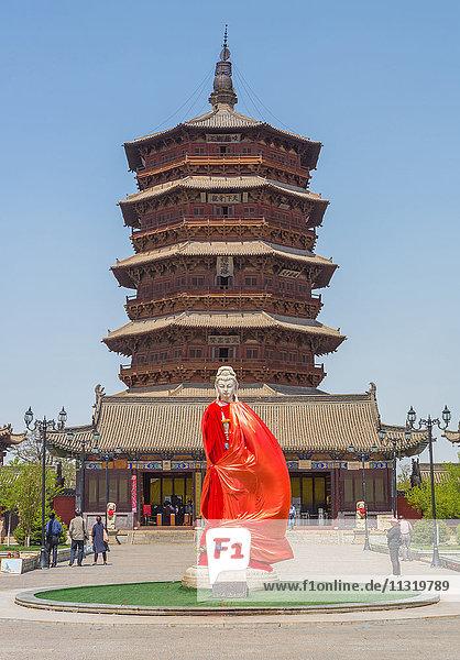 China  Shanxi Province  Xinanjiaocun City  Yingxian Wooden Pagoda  of Fogong Temple