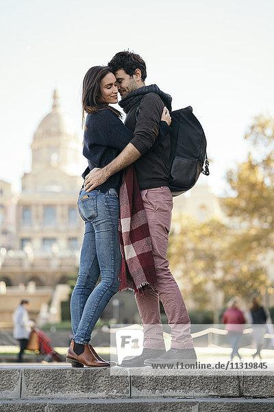 Spanien  Barcelona  verliebtes Paar