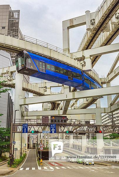 Japan  Chiba City  Hanging Monorail