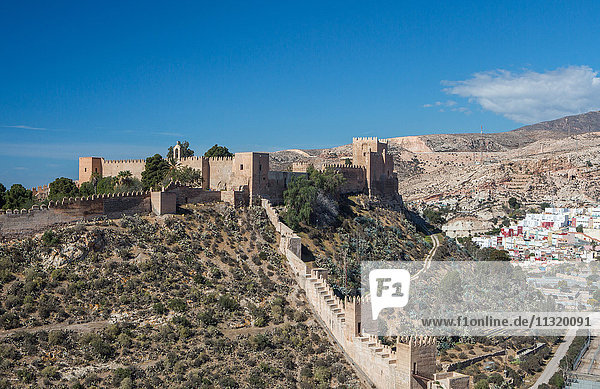 Spain  Almeria City  Almeria Alcazaba Castle
