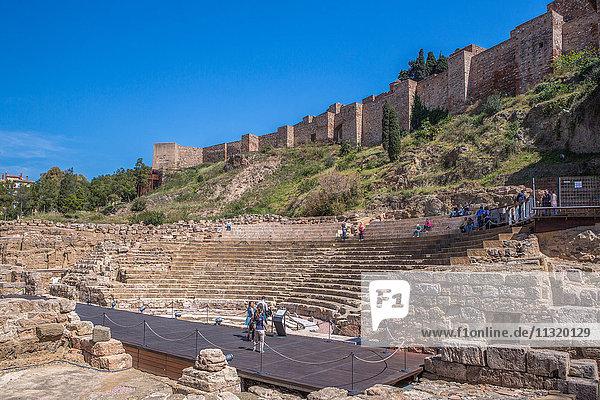 Spain  Andalucia  Malaga City  Ruins of Roman Theater