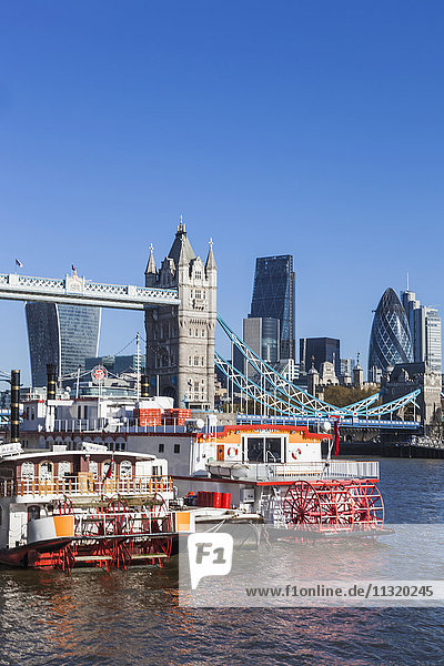 England  London  Thames River and London Skyline